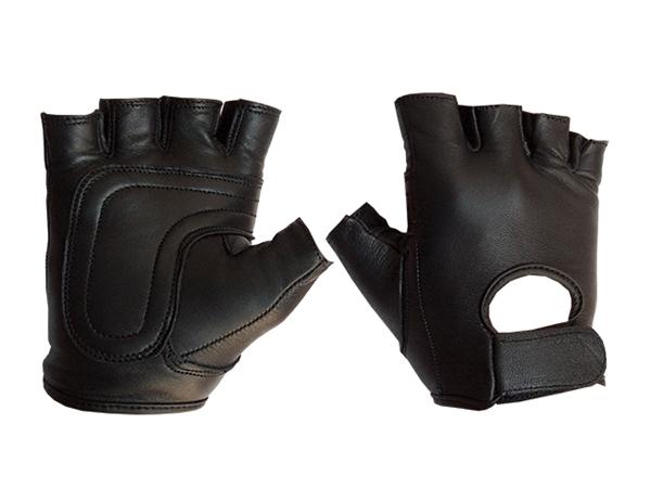 Mister B Leather Fingerless Gloves XS