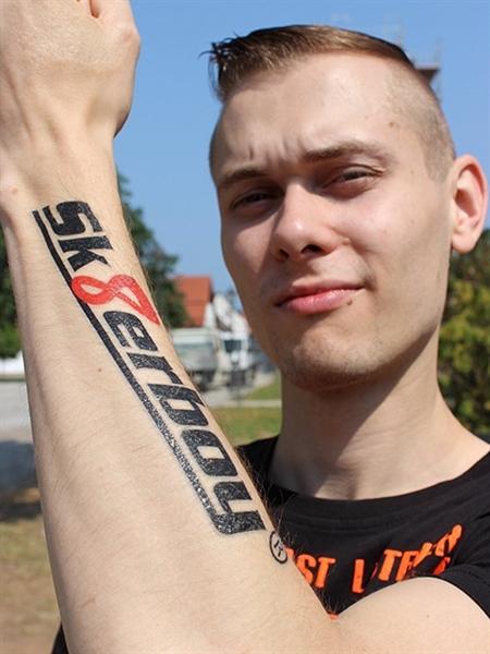 Sk8erboy non-permanent tattoo